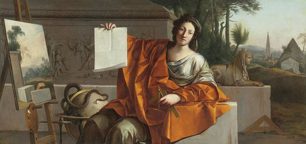 Laurent De La Hyre (french Art Print featuring the painting Allegory Of Geometry by MotionAge Designs