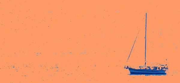 Boat Art Print featuring the photograph Boat On An Orange Sea by Ian MacDonald
