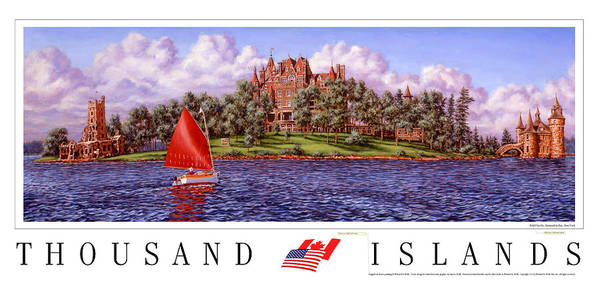 Thousand Islands Art Print featuring the print Boldt's Castle Poster by Richard De Wolfe