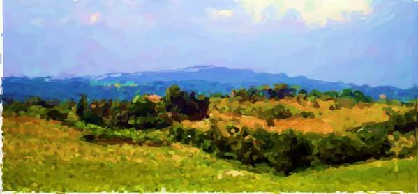Tuscan Hills Art Print featuring the photograph Hills Tuscany by Asbjorn Lonvig