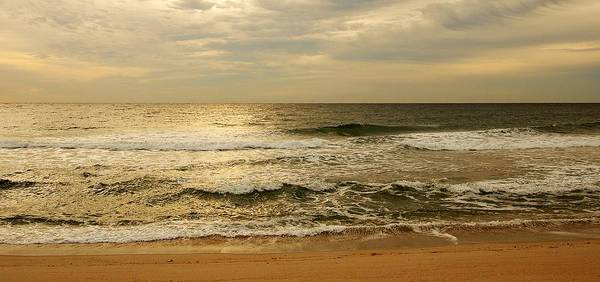 Morning Print featuring the photograph Morning On The Beach - Jersey Shore by Angie Tirado