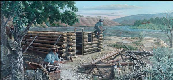 Pioneers Art Print featuring the painting New Neighbors by Lee Bowerman
