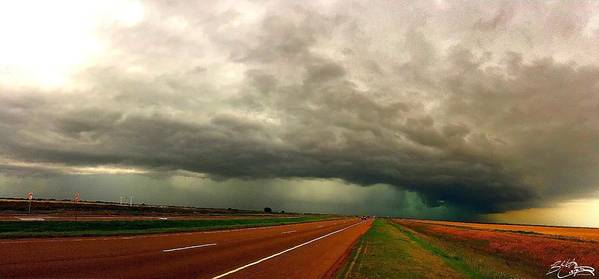 Storm Art Print featuring the photograph Severe Storm Pano by Beth Carpenter