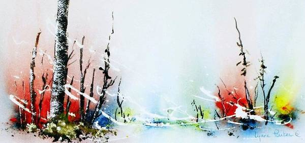 Landscape Art Print featuring the painting Sleet by Lynne Parker