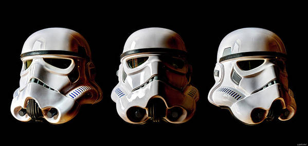 Stormtrooper Art Print featuring the photograph Stormtrooper 1-3 by Weston Westmoreland