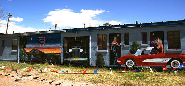 Route 66 Art Print featuring the photograph The Famous Murals On Route 66 by Susanne Van Hulst