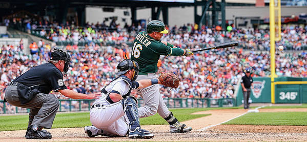 People Art Print featuring the photograph Oakland Athletics V Detroit Tigers 1 by Leon Halip