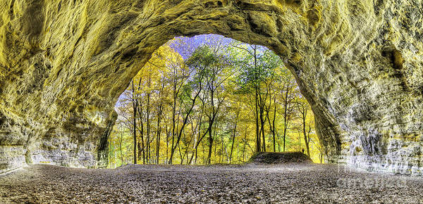 Starved Art Print featuring the photograph Council Overhang At Starved Rock by Twenty Two North Photography