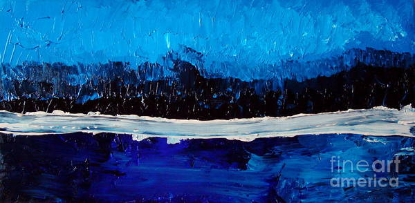 Blue Art Print featuring the painting Blues by Holly Picano