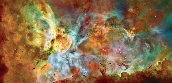 Universe Art Print featuring the photograph Carina Nebula - Interpretation 1 by Jennifer Rondinelli Reilly - Fine Art Photography