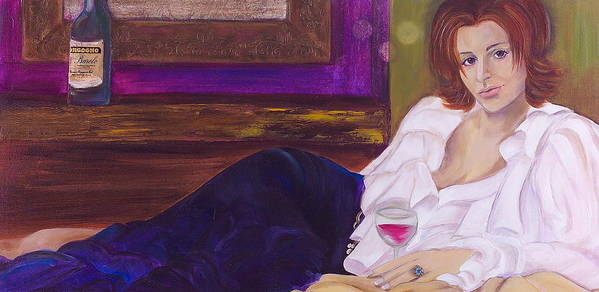 Woman Art Print featuring the painting Come Hither by Debi Starr