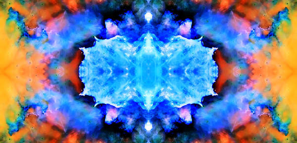 Universe Art Print featuring the photograph Cosmic Kaleidoscope 1 by Jennifer Rondinelli Reilly - Fine Art Photography
