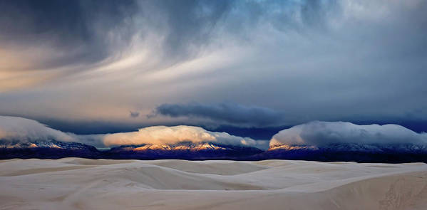 White Art Print featuring the photograph Day Break At White Sand by John Fan