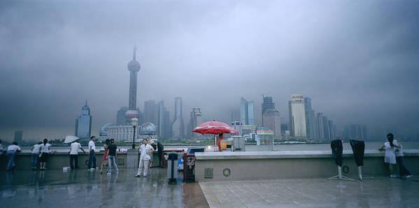 Shanghai Skyline Art Print featuring the photograph Dramatic Shanghai by Shaun Higson