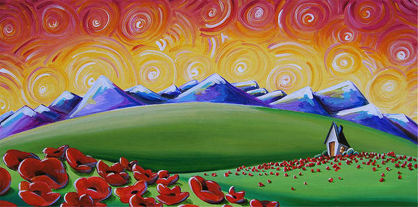 Poppies Art Print featuring the painting Heaven On Earth by Cindy Thornton