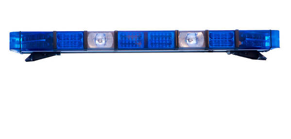 Ambulance Art Print featuring the photograph Isolated Police Emergency Light Roof Bar by Fizzy Image
