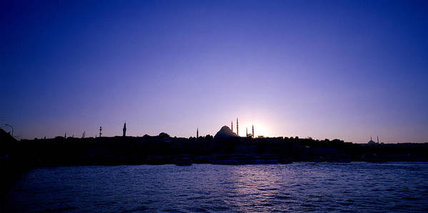 Istanbul Art Print featuring the photograph Istanbul Nightfall by Shaun Higson
