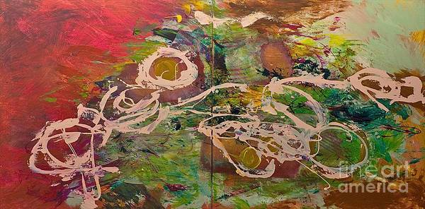 Landscape Art Print featuring the painting Journey Forth by Allan P Friedlander