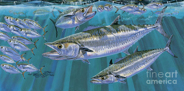 Kingfish Art Print featuring the painting King Of Kings Off0090 by Carey Chen