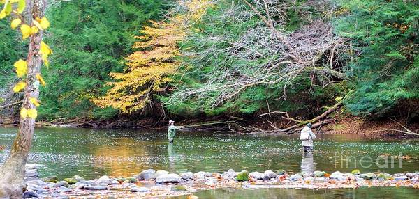 Mohican Art Print featuring the photograph Mohican Fly Fishermen by Patti Smith