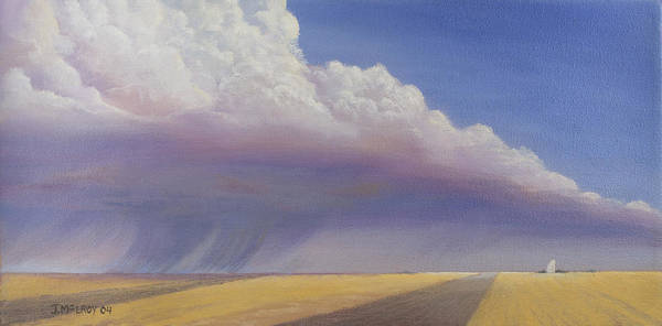 Landscape Art Print featuring the painting Nebraska Vista by Jerry McElroy
