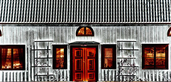 House Art Print featuring the photograph Old Antique Wooden House by Christian Lagereek