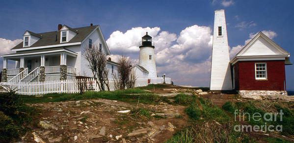 Lighthouses Art Print featuring the photograph Pemaquid Complex by Skip Willits
