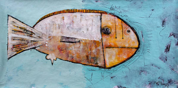 Fish Art Print featuring the painting Piscis 1 by Mark M Mellon