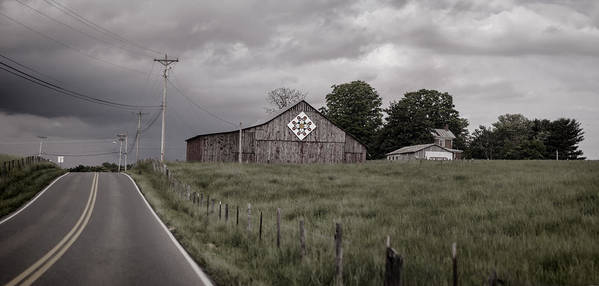 Barn Art Print featuring the photograph Rain Rolling In by Heather Applegate