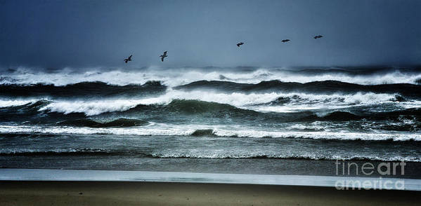 North Carolina Art Print featuring the photograph Riders On The Storm 1 - Outer Banks by Dan Carmichael