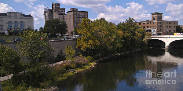South Bend Art Print featuring the photograph St. Joseph River Panorama by Anna Lisa Yoder