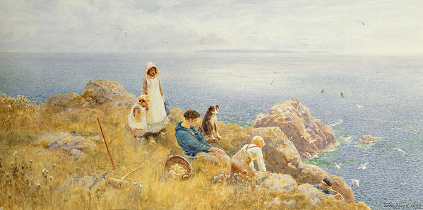 Coast Print featuring the painting Summer Frolic by Thomas James Lloyd