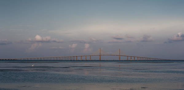 Florida Art Print featuring the photograph Sunshine Skyway Bridge by Steven Sparks