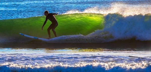 Ocean Art Print featuring the photograph Surfing The Waves 2 by Robert Mullen
