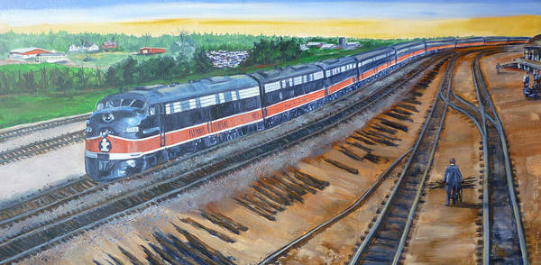 Train Art Print featuring the painting The City Of New Orleans by Bryan Bustard