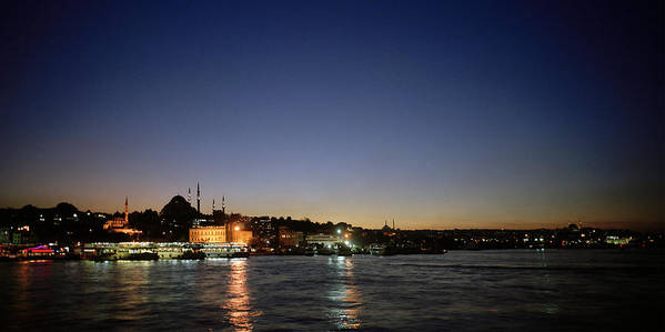 Night Art Print featuring the photograph Istanbul Nights by Shaun Higson