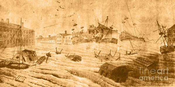 Weather Art Print featuring the photograph Hurricane, 1815 by Science Source