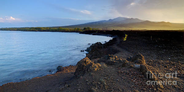 Hawaii Sunrise Art Print featuring the photograph Ahihi Preserve And Haleakala Maui Hawaii by Dustin K Ryan