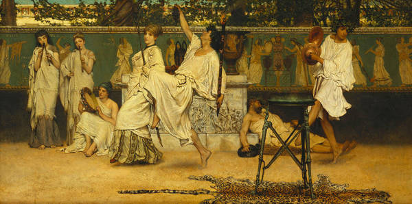 Bacchanal Print featuring the painting Bacchanal by Sir Lawrence Alma-Tadema