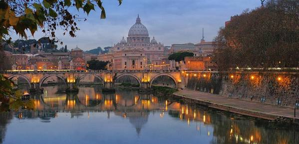 Italian Photographs Art Print featuring the photograph Evening In Rome by Andrea Franchi