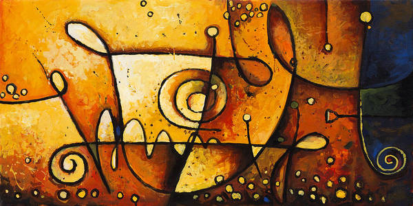 Abstract Painting Art Print featuring the painting Harmonious Spectrum 2 by Madhav Singh
