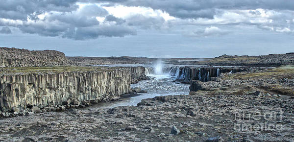 Iceland Art Print featuring the photograph Iceland Waterfall Selfoss 04 by Gregory Dyer