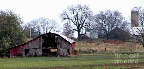 Barn Art Print featuring the photograph Indiana by Peggy Starks