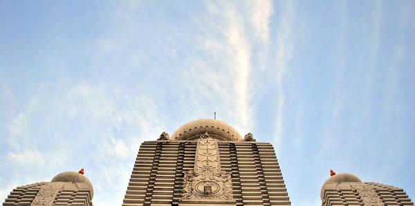 Temple Art Print featuring the photograph Iskcon Temple India by Sumit Mehndiratta