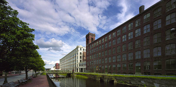 Merrimack River Art Print featuring the photograph Lawrnence Mills by Jan W Faul