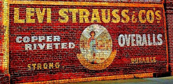 Levi Art Print featuring the photograph Levi Strauss by Randall Weidner