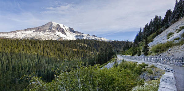 Mountain Print featuring the photograph Rainier Journey by Mike Reid