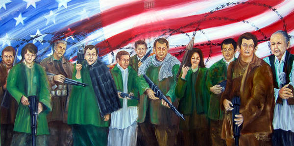 Current American Political Scene Art Print featuring the painting Tealibanization Of The Usa by Leonardo Ruggieri