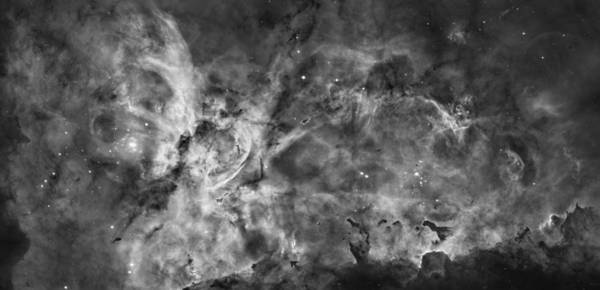 Galaxy Art Print featuring the photograph This View Of The Carina Nebula by ESA and nASA