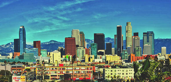 Los Angeles Art Print featuring the photograph A Slice Of Los Angeles by Library Of Congress